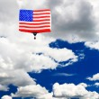 Stock Photo: An American flag hot-air balloon