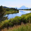Stock Photo: The Oxbow Bend Turnout in Grand Teton