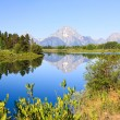 The Oxbow Bend Turnout in Grand Teton — Стоковая фотография