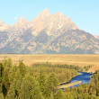 The Snake River Overlook in the Grand Teton — Stock Photo