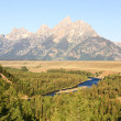 Snake River Overlook at Grand Teton — Stock Photo