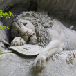 The dying lion monument in Luzern — Stock Photo
