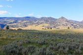 The scenery in Yellowstone National Park — Stock Photo