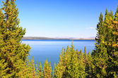 The Yellowstone lake — Foto Stock