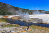 Midway Geyser Basin in Yellowstone — Stock Photo