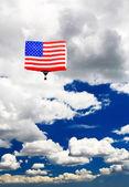 An American flag hot-air balloon — Stock Photo