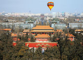 The aerial view of Beijing City — 图库照片
