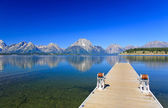 The Jackson Lake in Grand Teton — Stock Photo