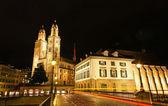 La cathédrale grossmünster de zurich — Photo