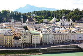 The aerial view of Salzburg City, Austria — Foto Stock