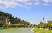 The Salzach River in Salzburg — Stock Photo