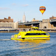 The NYC water taxi in East River — Stock Photo