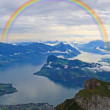 The aerial view from the top of Pilatus  — Stock Photo