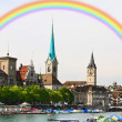 The cityscape of Zurich city — Stock Photo