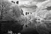Infrared image of the Central Park — ストック写真