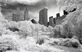 Infrared image of the Central Park — Stockfoto