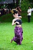 Manifestation traditionnelle des thaïlandais lanna native — Photo