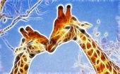 Design arte giraffa — Foto Stock