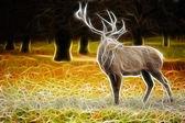 Deer art design — Stock Photo