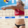 Постер, плакат: Lucy Boulton GBR during the FIVB International Beach Volleyball tournament
