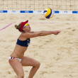 April Ross (USA) during the FIVB International Beach Volleyball tournament — Stock fotografie