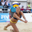 Постер, плакат: Denise Johns GBR during the FIVB International Beach Volleyball tournament