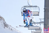 FRA: Alpine skiing Val D'Isere downhill — Stock Photo