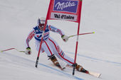 FRA: Alpine skiing Val D'Isere Women DH trg1 — Stock Photo