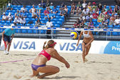 Heather Lowe (USA) in action during the FIVB International Beach Volleyball tournament — Photo
