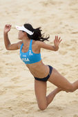 Yuanyuan Ma (CHN) during the FIVB International Beach Volleyball tournament — Stock Photo