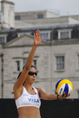 Candelas Bibiana (MEX) during the FIVB International Beach Volleyball tournament — Stock Photo