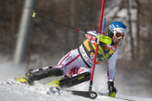 FRA: Alpine skiing Val D'Isere men's slalom. HOERL Wolfgang. — Stock Photo