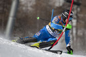 FRA: Alpine skiing Val D'Isere men's slalom. BYGGMARK Jens. — Stock Photo