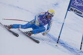FRA: Alpine skiing Val D'Isere Super Combined. Kajsa Kling. — Stock Photo