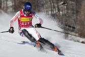 FRA: Alpine skiing Val D'Isere men's slalom. GRANGE Jean-Baptiste. — Stock Photo