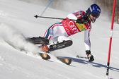 FRA: Alpine skiing Val D'Isere men's slalom. GRANGE Jean-Baptiste. — Stock Photo