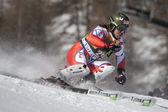 FRA: Alpine skiing Val D'Isere men's slalom. BANK Ondrej. — Stock Photo
