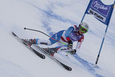 FRA: Alpine skiing Val D'Isere Super Combined. Denise Feierabend. — Stock Photo