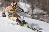 Fra: Alpejskie narciarstwo val d'isere slalom mężczyzn. trevor biały. — Zdjęcie stockowe