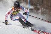 Fra: alpine Ski Val d ' Isere Slalom der Herren. Muffat jeandet. — Stockfoto
