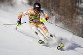 FRA: Alpine skiing Val D'Isere men's slalom. BIGGS Patrick. — Stock Photo