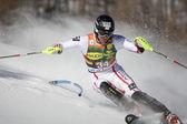 FRA: Alpine skiing Val D'Isere men's slalom. DREIER Christoph. — Stock Photo