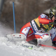 FRA: Alpine skiing Val D'Isere men's slalom. BANK Ondrej. — Stock Photo