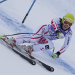 FRA: Alpine skiing Val D'Isere Super Combined.  Stefanie Moser. — Stock Photo