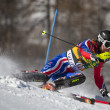 FRA: Alpine skiing Val D'Isere men's slalom.  BAXTER Noel. — Stock Photo