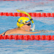 SWM: World Aquatics Championship - Womens 100m butterfly semi final — Stock Photo