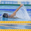 SWM: World Aquatics Championship - Mens 4 x 100m medley final. Aaron Piersol. — Stock Photo