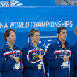 SWM: World Aquatics Championship - Mens 4 x 100m medley final. Aaron Pierson. — Stock Photo