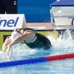 Постер, плакат: SWM: World Aquatics Championship Womens 100m backstroke Elizabeth Pelton