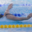 SWM: World Aquatics Championship - Womens 100m butterfly semi final. Christine Magnuson. — Stock Photo